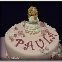 first communion angels cake