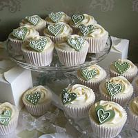 Cupcake wedding favours