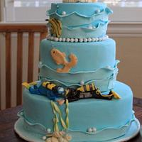 Scuba Divers Wedding Cake