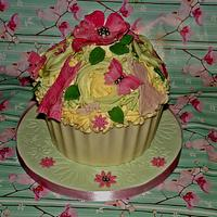 Giant Fashion Cupcake