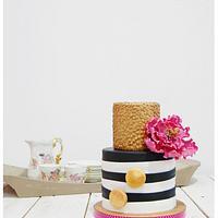 Black & White & Gold Cake