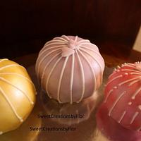 Temari Cake/Christmas ornament cake by SweetCreationsbyFlor