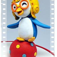 Pororo With A Difference ... The Winking Little Penguin With His Balancing Act!