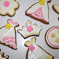 Pretty Pink & Yellow Cookies