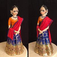 Indian theme wedding cake