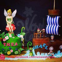 fairy and pirate ship cake