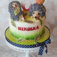 Hedgehog family cake