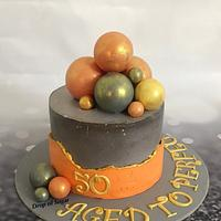 Fault line chocolate spheres cake