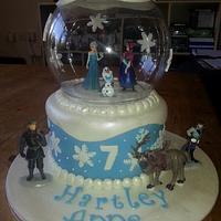A Frozen snow dome cake