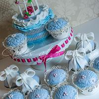 Blue Lace and Ribbons
