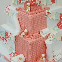 Coral and mint with lego and bunting