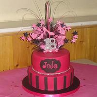 Pink & sparkly 18th