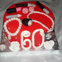 Jazzy 60th Birthday Cake