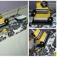 my 1st wedding cake x