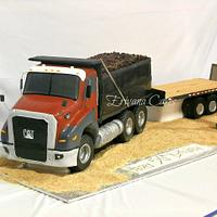 Truck, Float, and Excavator cake