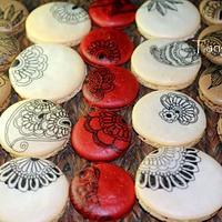 Diwali themed macaron shells