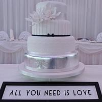 All You Need Is Love Wedding Cake by cakesbymiriam