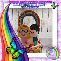 Sugar art Tegen Pesten Vzw MATHI'S HOOP.Anti bullying cake