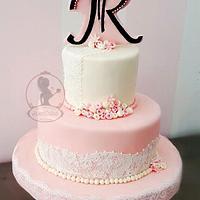 J&R engagement cake