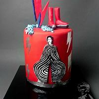 David Bowie Collab Cake