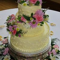 Pink & Lavender Wedding cake by Nancys Fancys Cakes & Catering (Nancy Goolsby)