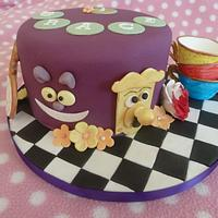 Alice in Wonderland Cake - Tea Party Theme