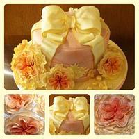Vintage hat box cake by Karen