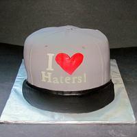 """I heart Haters"" hat by NickySignatureCakes"