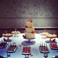 Romantic Cake & Dessert Table
