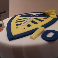 Leeds United Football Cake by Rachel Nickson