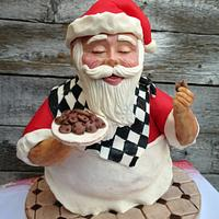 3D Cake Santa Claus and the Cookies