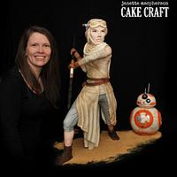 Rey & BB8 cakes - Bakers Strike Back Collaboration
