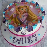 Rapunzel Topper cake