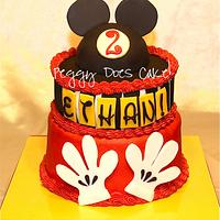 Mickey Mouse Cake by Peggy Does Cake