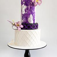 Violet splash-caker buddies collaboration