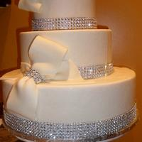 BOWS & RHINESTONE WEDDING CAKE