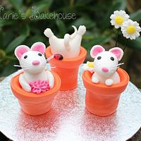 Teeny tiny mice for Fairytale Forest