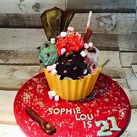 Icecream Sundae cake