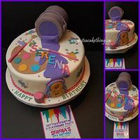 Paint Splatter Party Cake