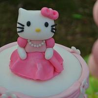 Hello Kitty Cake w/ matching cupcakes by Nani's Cakes