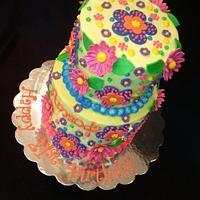 Whimsical 21th Birthday Cake by vpardo53