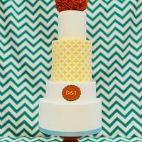 50's inspired Wedding Cake