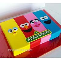 Sesame Street Sheet Themed Cake