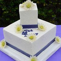Daisy Wedding Cake for Daisy  by Sugarpixy