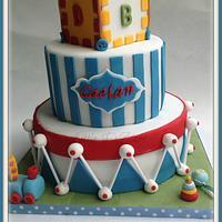 Mickey themed 1st Birthday Cake  by LittleDzines