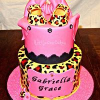 Leopard and Pink Fashionista Baby shower by Ann-Marie Youngblood