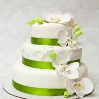 Orchid wedding cake by Lina