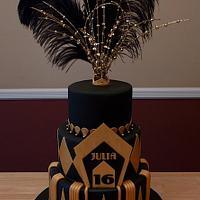 Great Gatsby Sweet 16 Cake
