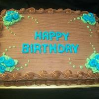 Simple Chocolate Birthday