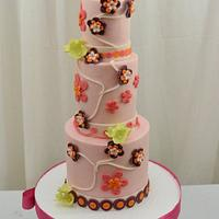 Little Flowers on  a Cake